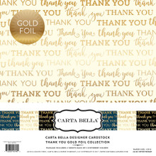 Carta Bella Paper Company Thank You Foil Collection Kit