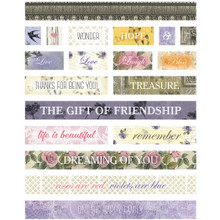 Ultimate Crafts Rambling Rose Stickers 4'X6'-Petite Messages
