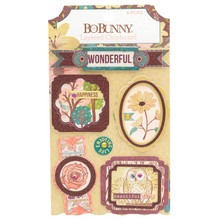 Bo Bunny - Layered Chipboard Stickers 7310365