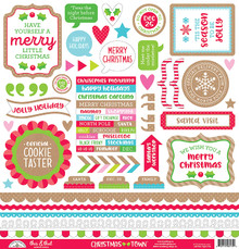 Doodlebug Cardstock Stickers 12'x12'-christmas Town This & That