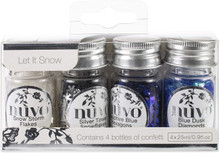 Nuvo Pure Sheen Confetti 4/Pkg, Let It Snow 288N