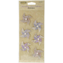 Ultimate Crafts Rambling Rose Pinwheels 6/Pkg-