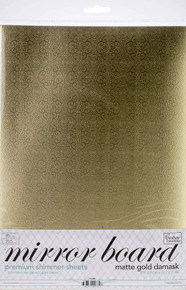 Couture Creations Mirror Foil Board A4 10/Pkg-Gold Damask Matte