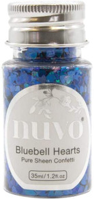 Tonic Studios NSC-1070 Nuvo Pure Sheen Confetti 1oz-Bluebell Hearts