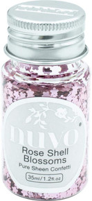Tonic Studios NSC-1071 Nuvo Pure Sheen Confetti 1oz-Rose Shell Blossoms
