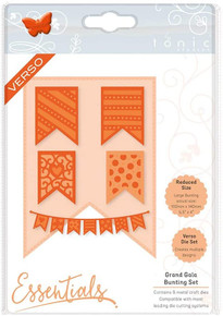 Tonic Studios Grand Gala Beautiful Bunting Die Set, Metal, Grey, 20.5 x 14.5 x 0.3 cm