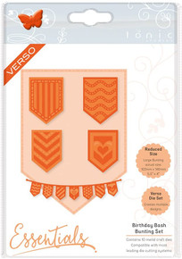 Tonic Studios Birthday Bash Beautiful Bunting Die Set, Metal, Grey, 20.5 x 14.5 x 0.3 cm