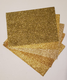 Papermania 10 Sheets Handmade Shimmers Gold Glitter A4 Paper (5 Golden Shades x 2)