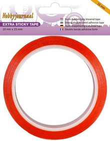 HobbyJournal Super Sticky Red-Liner Tape 15mm Extra Strong Hold