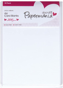 docrafts A6 Papermania Cards and Envelopes, White, 2.75 by 4-Inch