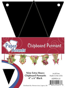 Paper Accents Chip Pennant 4x6 Black ChipPennant4x6Blk