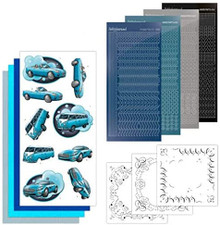 Find It Trading Dot and Do Card Kit Cars in Blue