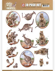 Find It Trading Amy Designs Wild Animals Outback 3D Push Out Sheet-Koala Kangaroo Wombat