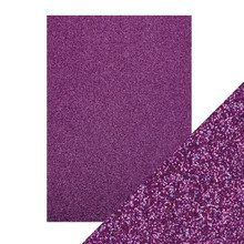 Craft Perfect Glitter Card 5PC -  Nebula Purple 9966E