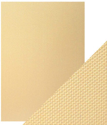 Craft Perfect A4 Luxury Embossed Card - Golden Mosaic