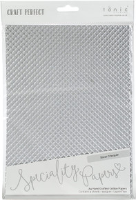 Craft Perfect A4 Handcrafted Cotton Papers Silver Chequer