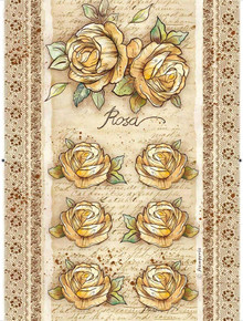 Stamperia A4 Rice Paper Sheet - Rose