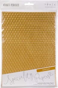 Craft Perfect A4 Handcrafted Cotton Papers - Golden Sclaes