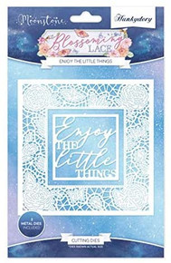 Hunkydory Moonstone Cutting Dies- Blossoming Lace- Enjoy The Little Things MSTONE180