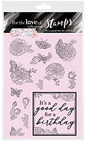 Hunkydory Crafts for The Love of Stamps -Blossoming Lace- It's a Good Day for a Birthday FTLS550