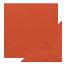 Craft Perfect Classsic Card Weave Texture - Brick Red