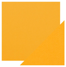 Craft Perfect Classsic Card Weave Texture - Mustard Yellow