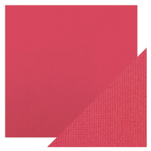 Craft Perfect Classsic Card Weave Texture - Fuchsia Pink