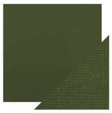 Craft Perfect Classsic Card Weave Texture - Avacado Green
