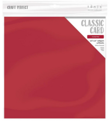 Craft Perfect Classsic Card Weave Texture - Candy Red