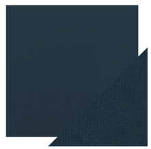 Craft Perfect Classsic Card Weave Texture - Navy Blue