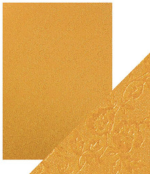 Craft Perfect A4 Luxury Embossed Card - Honey Gold Roses