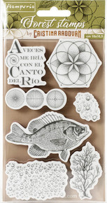 STAMPERIA INTERNATIONAL, Cling Rubber Stamps Fish