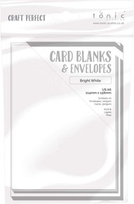 Craft Perfect Card Blanks & Envelopes - A6 10 pk - Bright White -300gsm