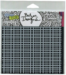 Crafter's Workshop Template 6''X6'' - Plaid Fringe, Clear