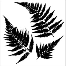 CRAFTERS WORKSHOP Template, 6 by 6-Inch, Mini Ferns