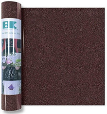 Best Creation GIO019 Iron On Glitter Roll, Brown, 12''x24'''