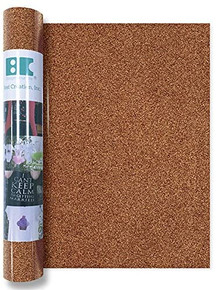Best Creation GIO009 Iron On Glitter Roll, Copper, 12''x24'''