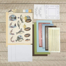 Hobbydots Amy Design 3D Diecut Decoupage Set - It's a Man's World - Fishing