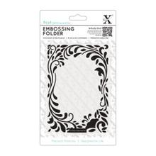XCUT EU A6 Embossing Folder - Floral Curls