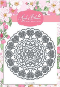 Apple Blossom Die Set Doily Heart Mandala | Set Of 6