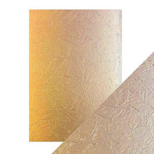 Craft Perfect A4 Luxury Embossed Card - Golden Leaves