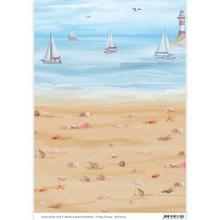 Amy Design Beach Background Paper - 3-Sheet Pack - A4