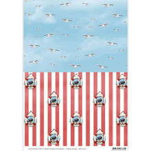 Amy Design Maritime Seagulls Background Paper - 3-Sheet Pack - A4