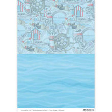 Amy Design Maritime Background Paper - 3-Sheet Pack - A4