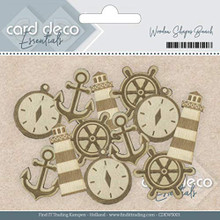 SUBSTITUTIONS Card Deco Essentials Wooden Shapes Beach
