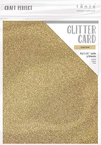 Craft Perfect 9960E Glitter Card 8.5X11 Gold DUST