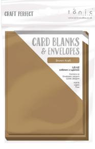 Craft Perfect Cards & Envelopes - US A2 - Kraft 9255e - 300gsm