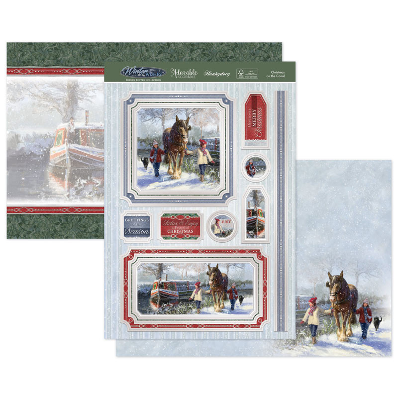 Robin Friends Hunkydory Winter Wishes SNOWY20-906 Topper Set