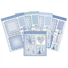 Hunkdory Crafts True Blue Fancy Edge Easel Cards - Makes 4