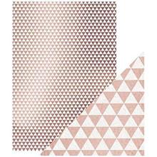 Craft Perfect- A4 Foiled Kraft Card- Rose Gold Triangles- 9347E